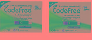 SD Codefree 200 (100x2) Test Strips Expiry APRIL 2019
