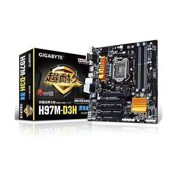 GIGABYTE GA-H97M-D3H LGA 1150 Intel H97 HDMI SATA 6Gb/s USB 3 0 Micro ATX  Intel Motherboard