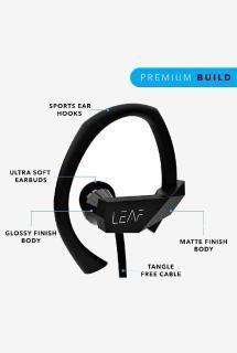 Leaf Sport Wireless Bluetooth Earphone with Mic (Black)