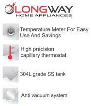 LONGWAY 15 Ltr HOT PLUS Storage - Geysers IVORY