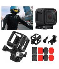 Frame Mount Protective Housing Cover+Flat Arc Base for Gopro Hero 4 Session