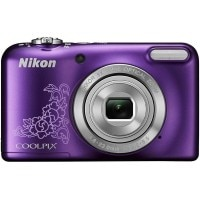 Nikon Coolpix L29 16.1MP Point and Shoot Camera (Purple) with 5x Optical Zoom, Memory Card and Camera Case