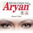 Aryan 2 Tone Brown By Visions India Yearly Contact Lens (-4.00, Brown, Pack of 2)