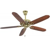 Latest ceiling fan fans 2018 in india pricedekho usha hunter savoy bright brass 1320 5 blade ceiling fan brown aloadofball Images