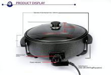 N-STORE Non Stick Electric Multi Cooker Pan Pizza Maker with Unbreakable Glass Lid and Non Stick Ceramic Pizza Maker(Black)