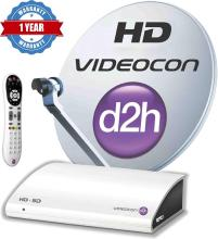 Videocon d2h HD Digital Set Top Box with 1 Month Gold HD Combo Pack Free