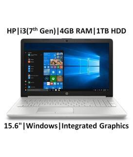 HP 15-da0327tu 2018 15.6-inch Laptop (7th Gen Core i3-7100U/4GB/1TB/Windows 10/MS Office/ Integrated Graphics), Natural Silver