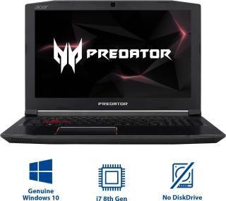 Acer Predator Helios 300 Core i7 8th Gen - (8 GB/1 TB HDD/128 GB SSD/Windows 10 Home/4 GB Graphics) PH315-51-73SR Gaming Laptop(15.6 inch, Shale Black, 2.7 kg)