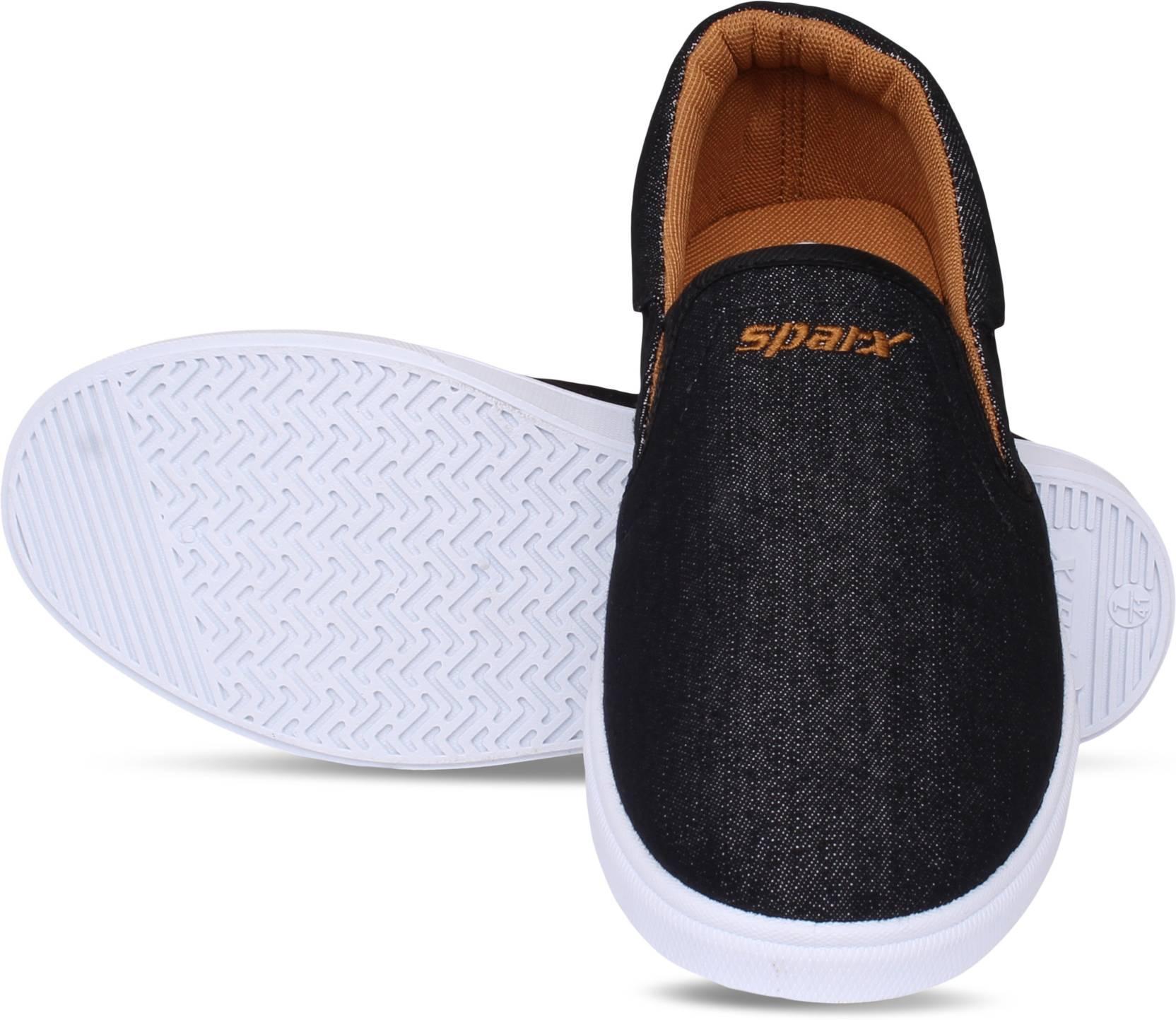 SparxMen SM-402 Black Slip On Sneakers For Men(Black)