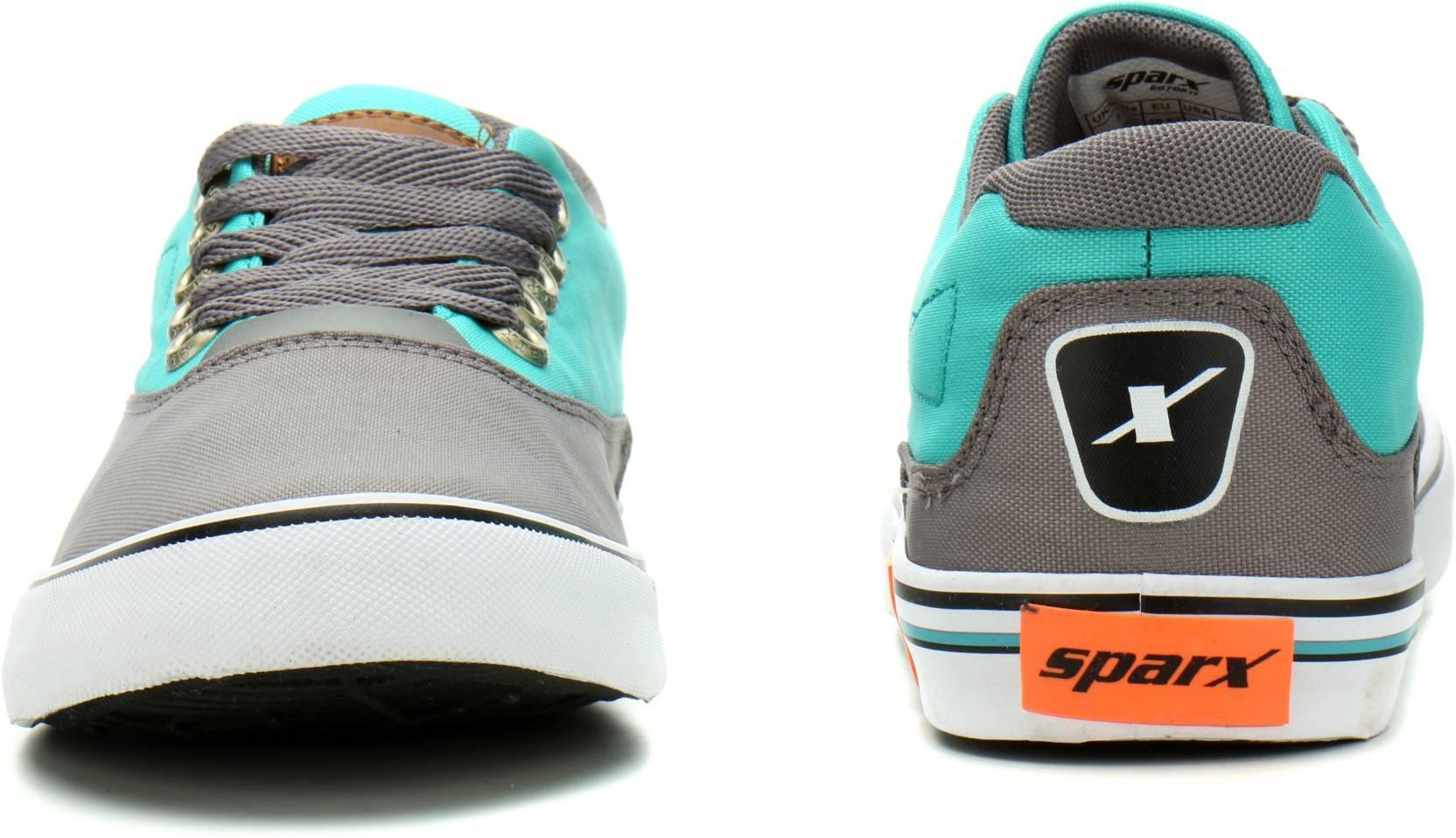 SparxSM-322 Canvas Shoes For Men(Grey, Blue)