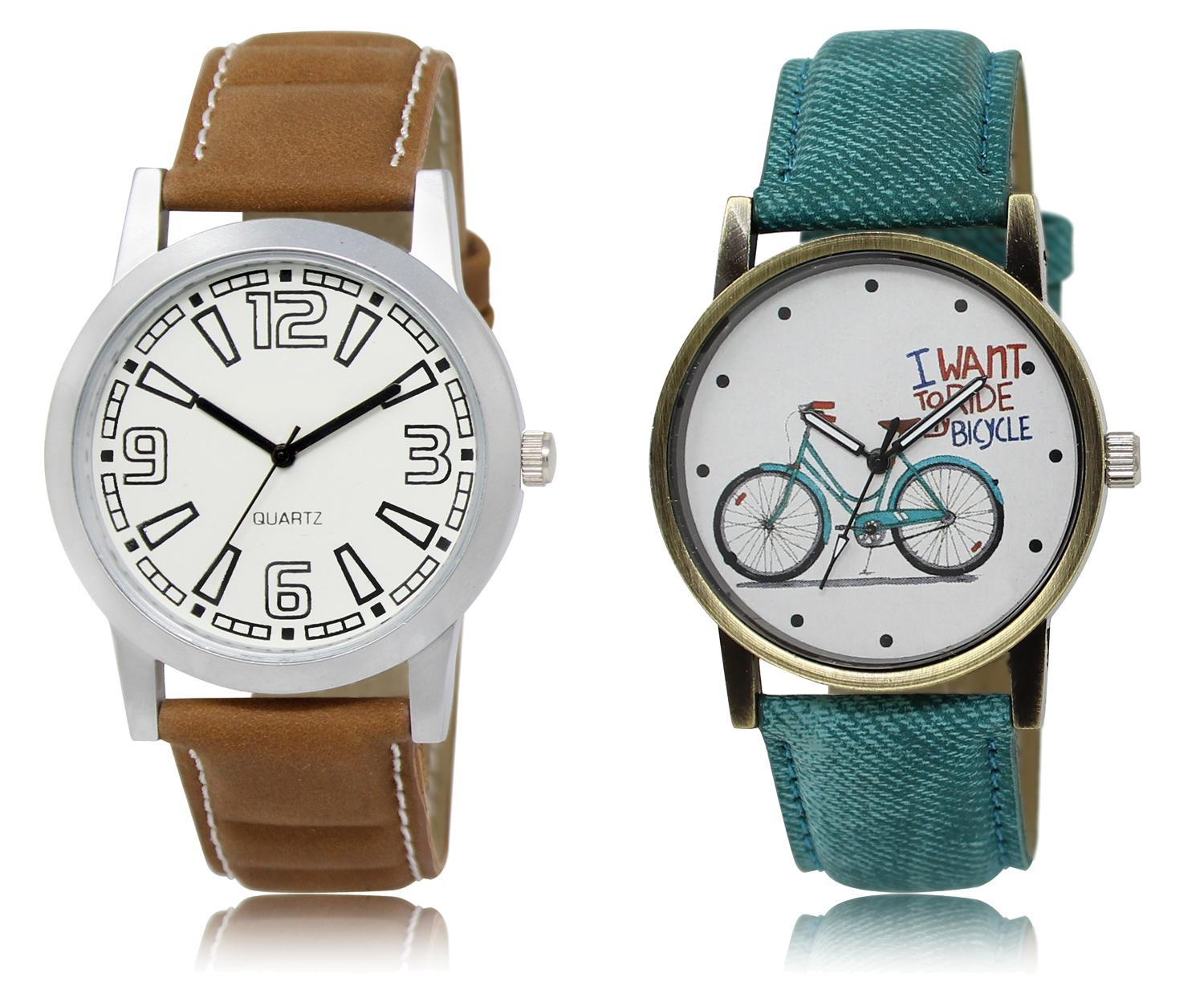 The Shopoholic White Combo Best Combo Pack White Dial Analog Watch For Boys And Girls Formal Watch For Men