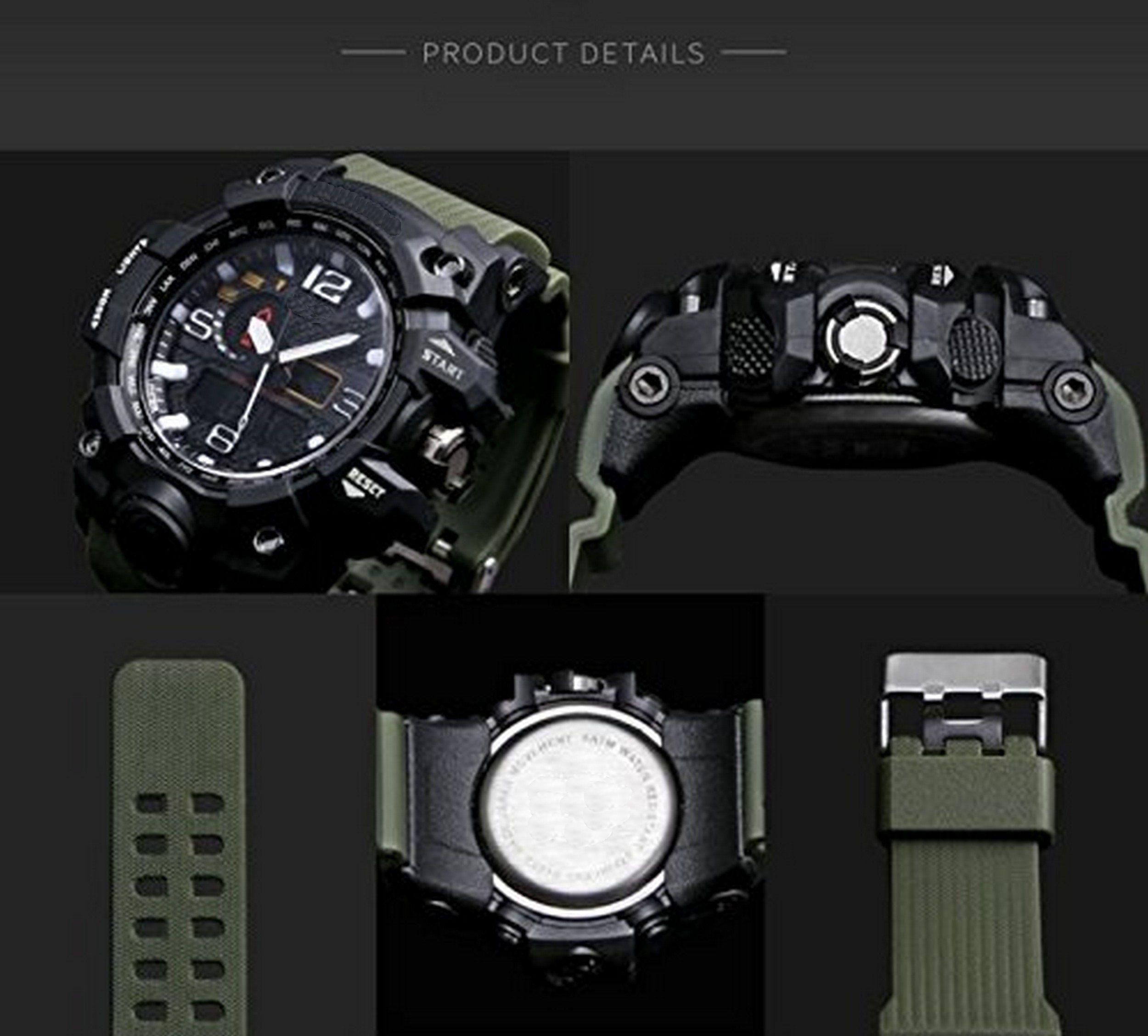 V2A Military Resin Analog-Digital Men's Watch