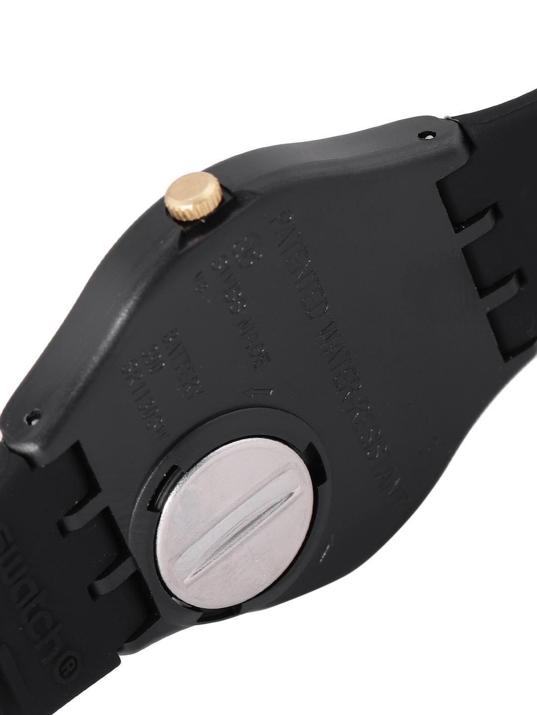 Swatch Unisex Black Swiss Made Analogue Watch GB274