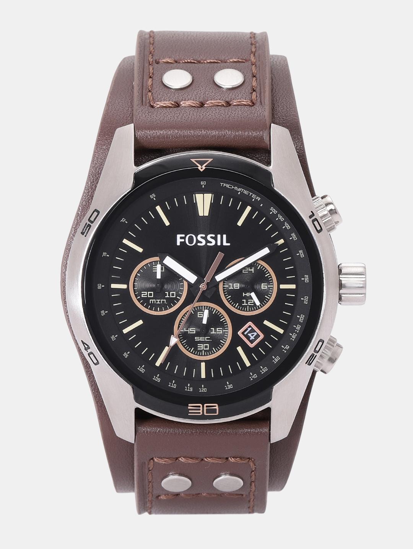 Fossil Men Black Chronograph Watch CH2891_SOR