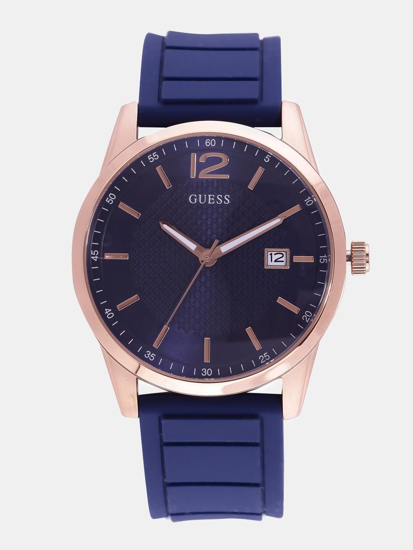 GUESS Men Navy Blue Analogue Watch W0991G4