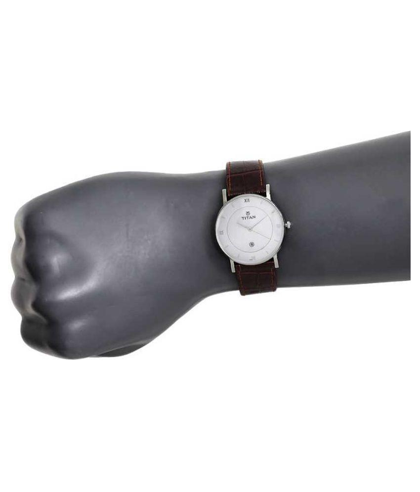 Titan 9162SL01 Leather Analog Men's Watch