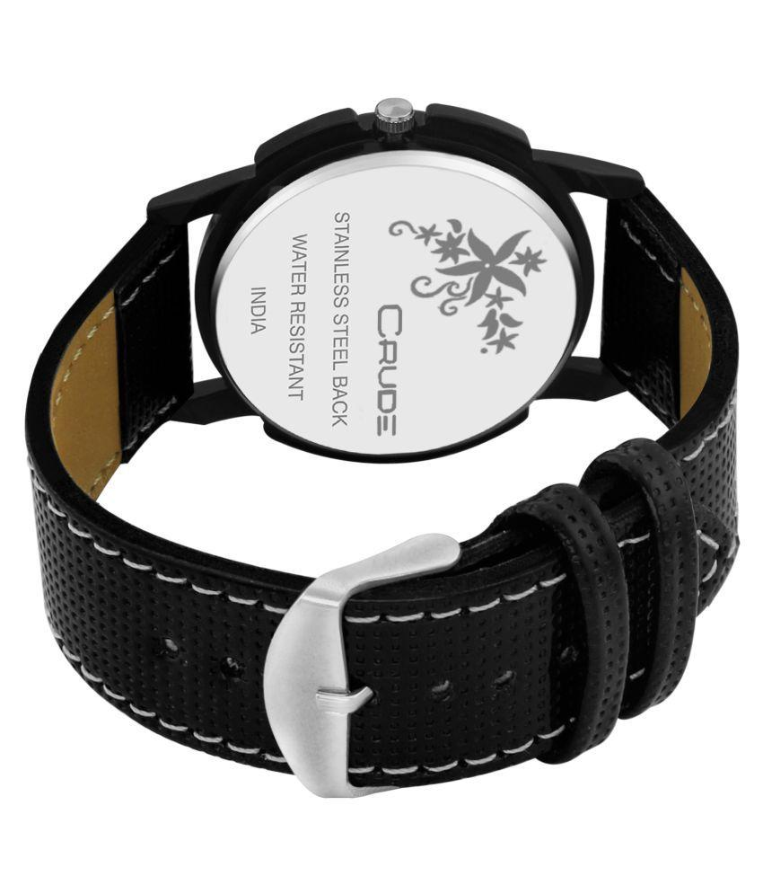 Crude Analog Watch rg459 with Leather Strap for Men