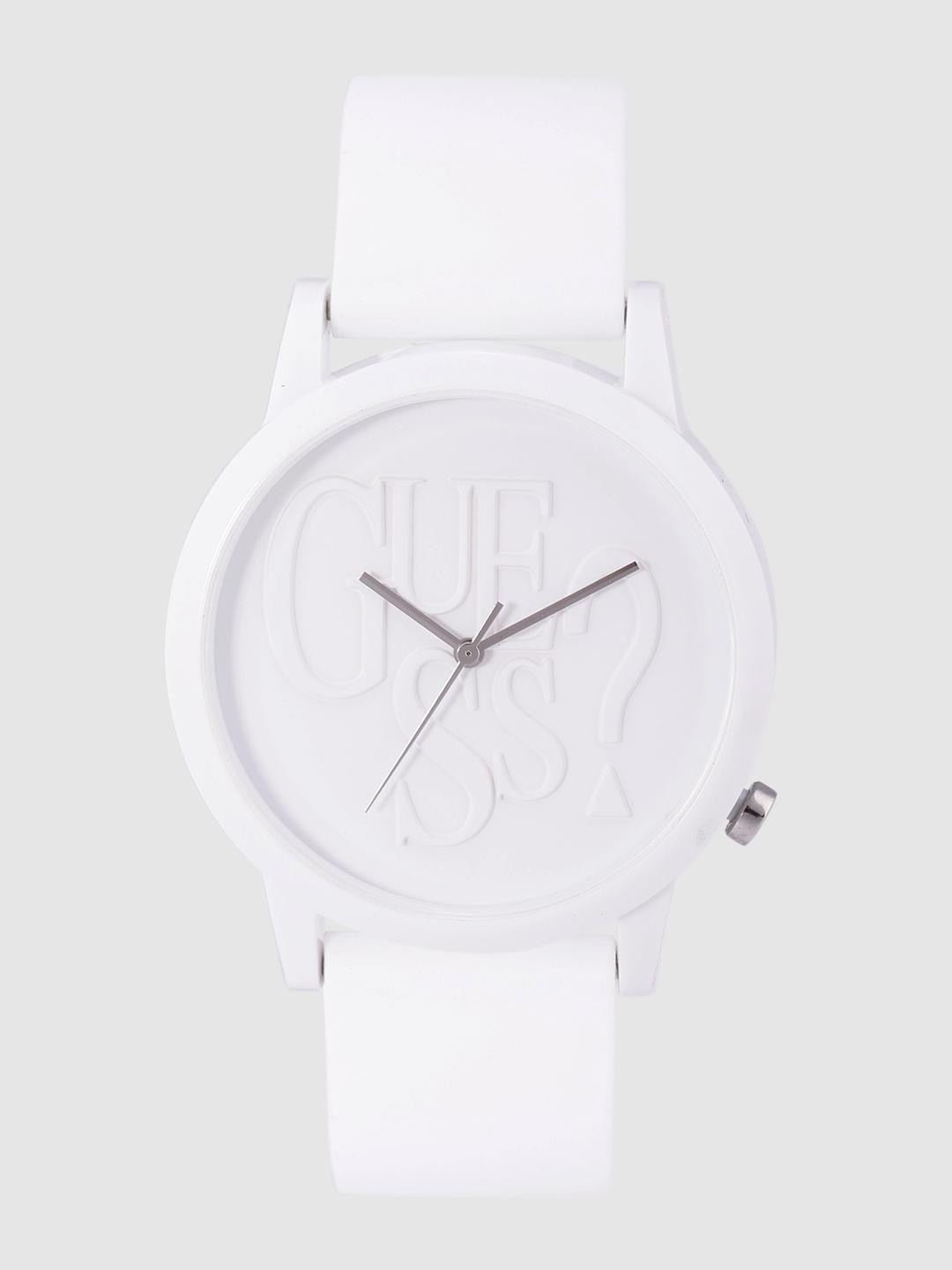 GUESS Unisex White Analogue Watch V1019M2