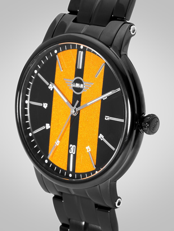 MINI Men Black & Yellow Analogue Watch 160905_OR11