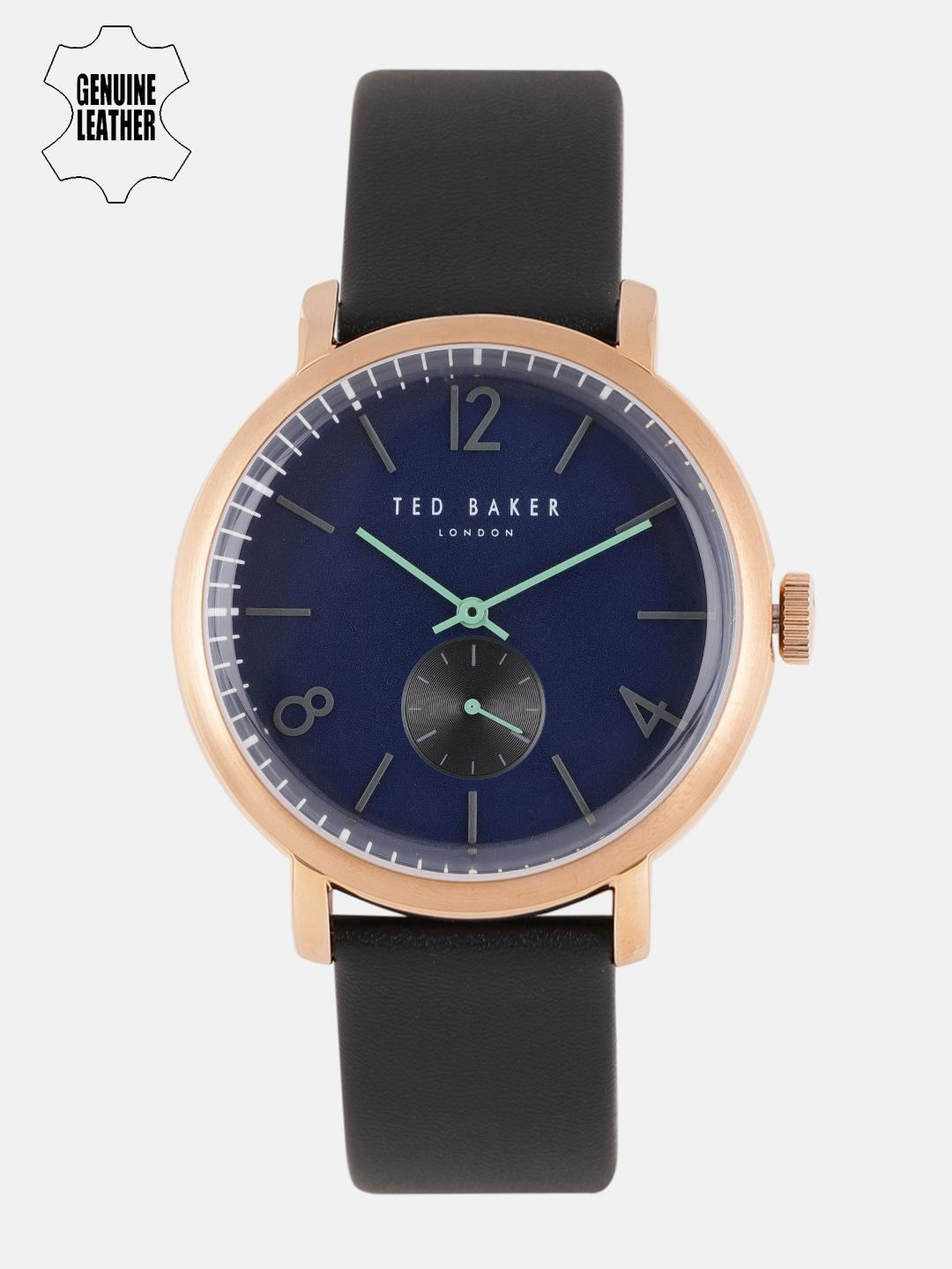 Ted Baker Men Blue Leather Analogue Watch 10031515_OR