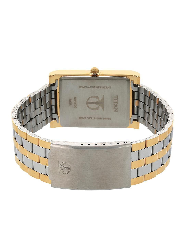 Titan Men Silver-Toned & Gold-Toned Analogue Watch NK1641BM01