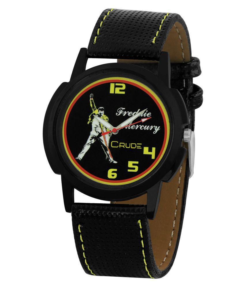 Crude Black Analog Watch