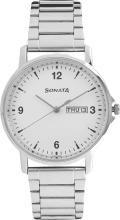 Sonata77083SM01 Gents Essentials Analog Watch - For Men