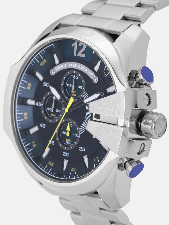 DIESEL Men Charcoal Grey Chronograph Watch DZ4465
