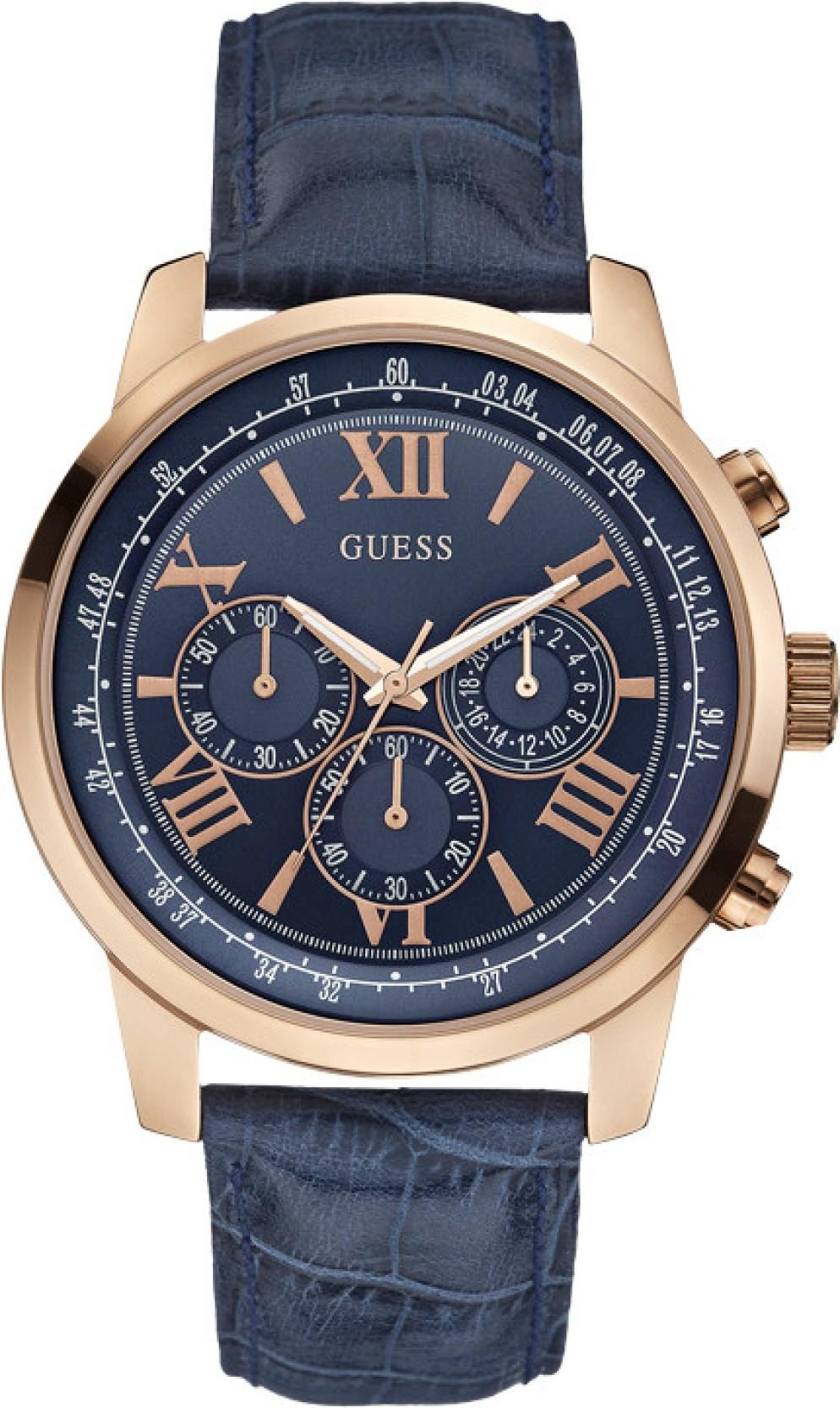 Guess W0380G5 Blue Print Watch - For Men