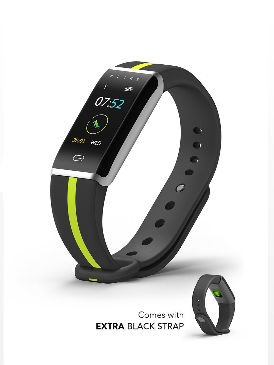 Blink GO - Neon Silver (extra Black Strap) Fitness Wearable Band