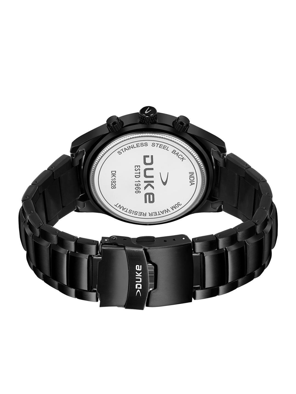 Duke Men Black Analogue Chronograph Watch DK4005CRM02C