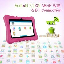 Ainol Q88 Kids Tablet PC,7 Inch Android 7.1 Display 1G RAM 8 जीबी ROM Tablet Dual 0.3MP Camera Kid-Proof Silicone Case Kickstand Available with iWawa for Kids Education Entertainment- Pink