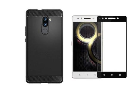 lowest price 13f81 4a22a Lenovo K8 Note Tempered Glass + Back Cover (Combo Offer)