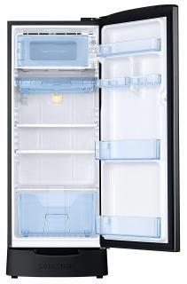 Samsung 192 L 4 StarInverter Direct Cool Single Door Refrigerator (RR20N182YBS/HL, Black Inox)
