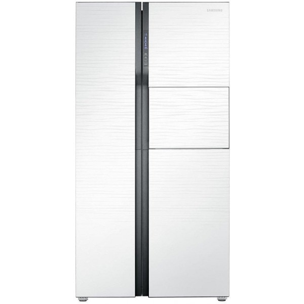 Samsung Rs554nrua Side By Side Refrigerator 591 Ltrs White Shiny