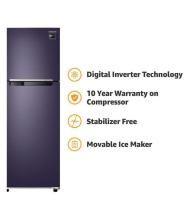 Samsung 275 Ltr 3 Star (RT30M3043UT, Pebble Blue) Double Door Refrigerator - Blue