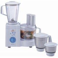 Bajaj Master Chef 3.0 600 W Juicer Mixer Grinder (White, 4 Jars)