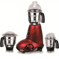 SupremeChef Ranger 750 W Mixer Grinder (Red, 3 Jars)