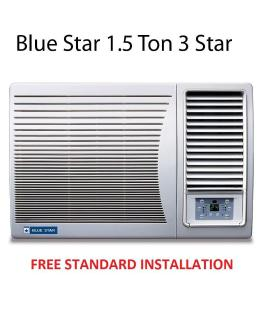 Blue Star 1.5 Ton 3 Star 3W18GA / 3W18LC Window Air Conditioner(2016-17 BEE Rating) Free Standard Installation