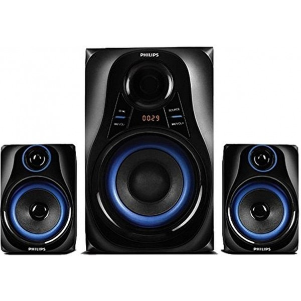 Philips MMS2580B Dhoom 2.1 Channel Speaker Black Price In