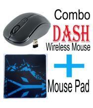 Zebronics DASH + MOUSEPAD Black Wireless Mouse