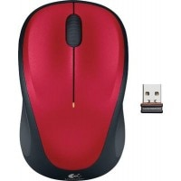 Logitech M235 Wireless Optical Mouse (Red)
