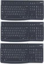 Logitech K120 WIERD KEYBOARD HINDI+ENGLISH Wired USB Multi-device Keyboard(Black)