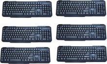 Eyot Multi Device USB Keyboard (Black) PACK OF 6 Wired USB Multi-device Keyboard(Black)