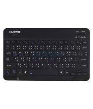 NUBWO NKB-100 Black Bluetooth Desktop Keyboard Bluetooth Connectivity