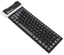 Statusbright Wireless USB Interface Silicon Keyboard Russian Layout Waterproof for PC Laptop Keyboard fold Wireless, Bluetooth Multi-device Keyboard Bluetooth Desktop Keyboard(Black)