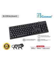 R3 GERMAN B07JGGBT48 Black USB Wired Desktop Keyboard