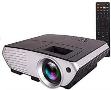 Zeom LED Portable Projector with USB Connectivity, Remote Controlled 1080P Projector(Black)