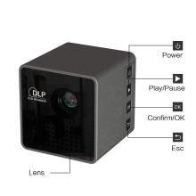 P1 Ultra Mini 1080P Full HD 3D LED Portable DLP Projector for Home Theater Beamer(Black,46x47x48mm)