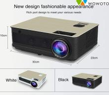 WOWOTO H8+ Android 6.0 WiFi HD 3D LED 3200 Lumens Video Projector Multimedia Support 120 Display